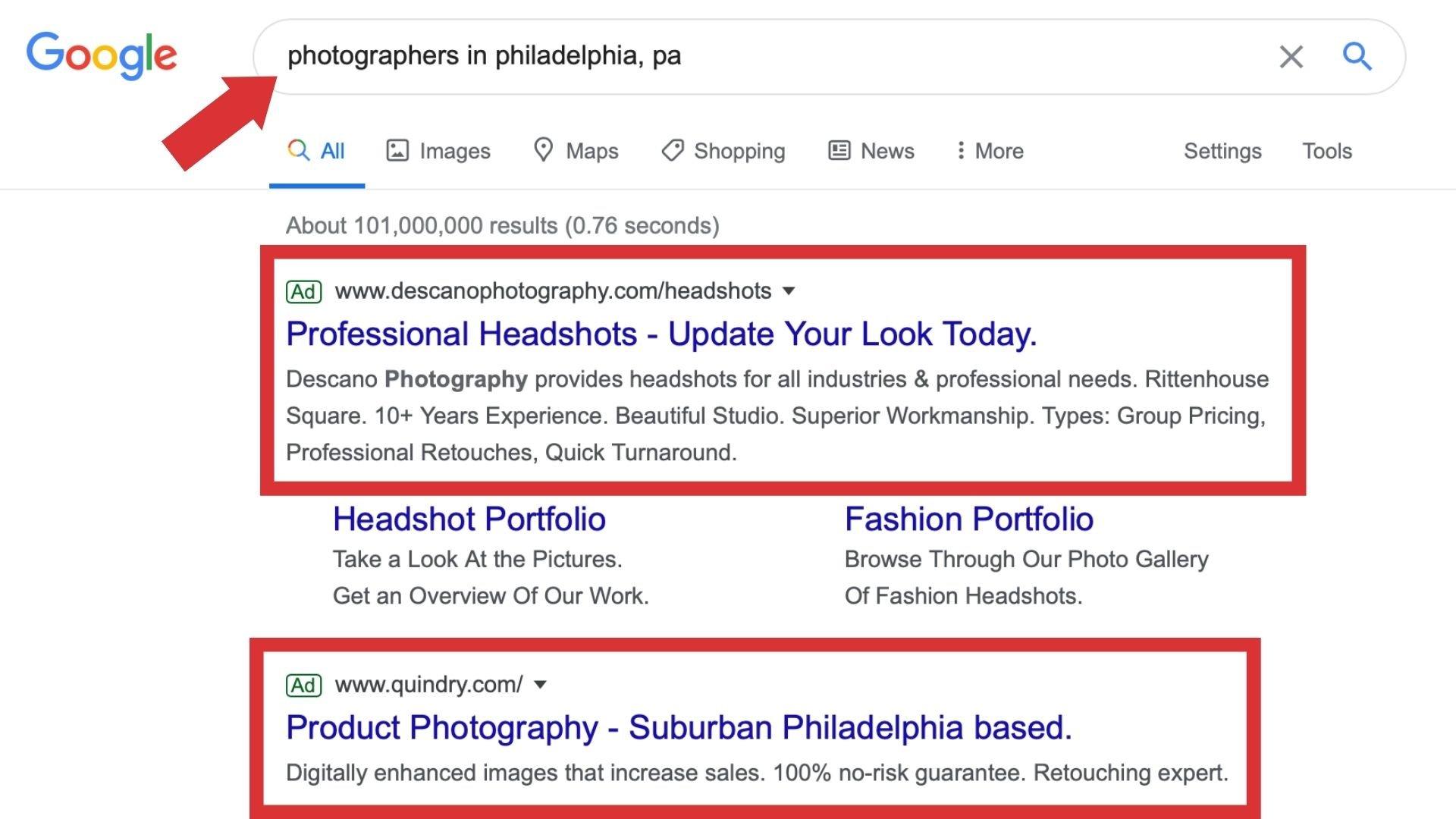 Google Ads SERP