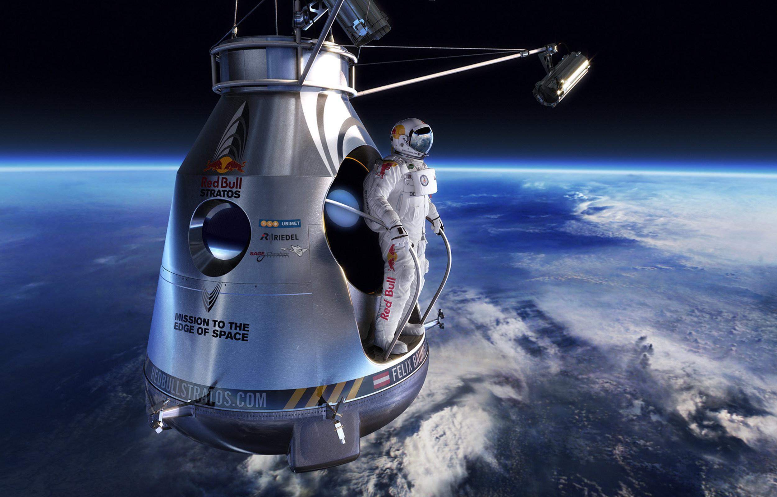Red Bull Stratos Branding