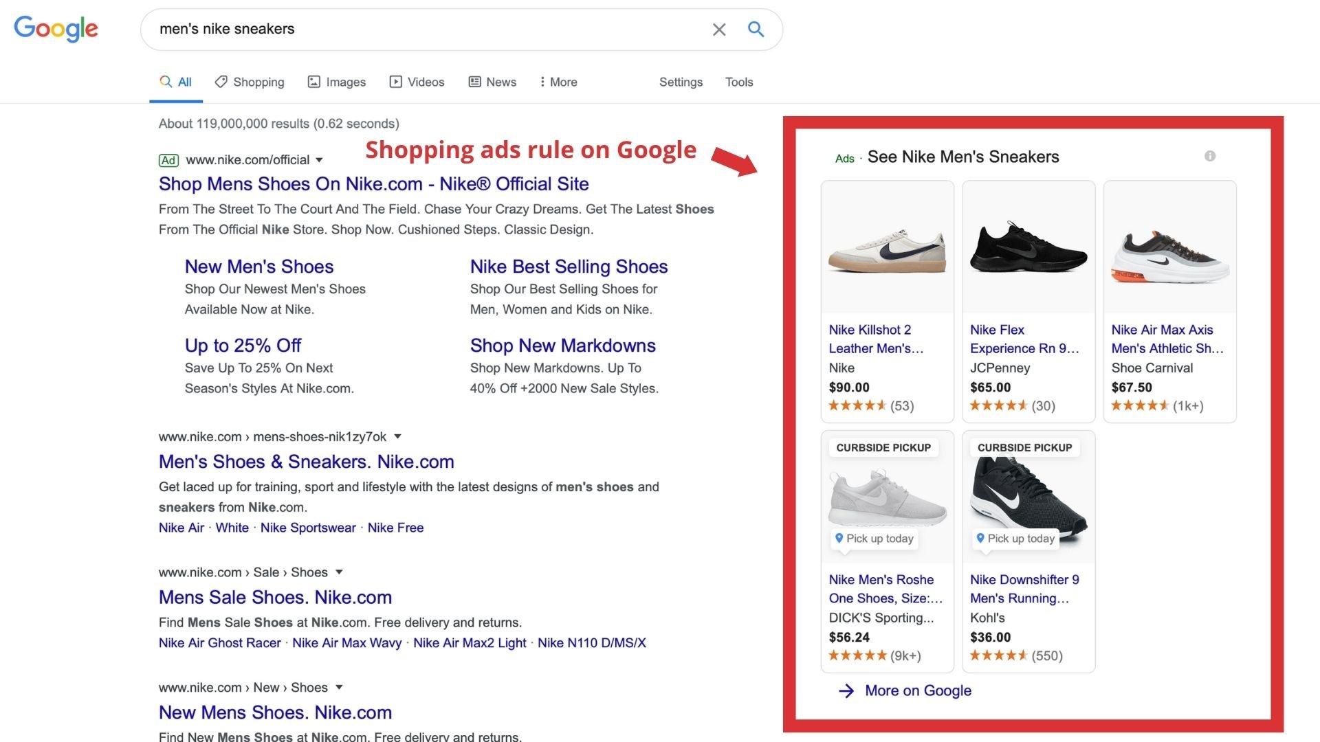 Shopping Ads Rule Google