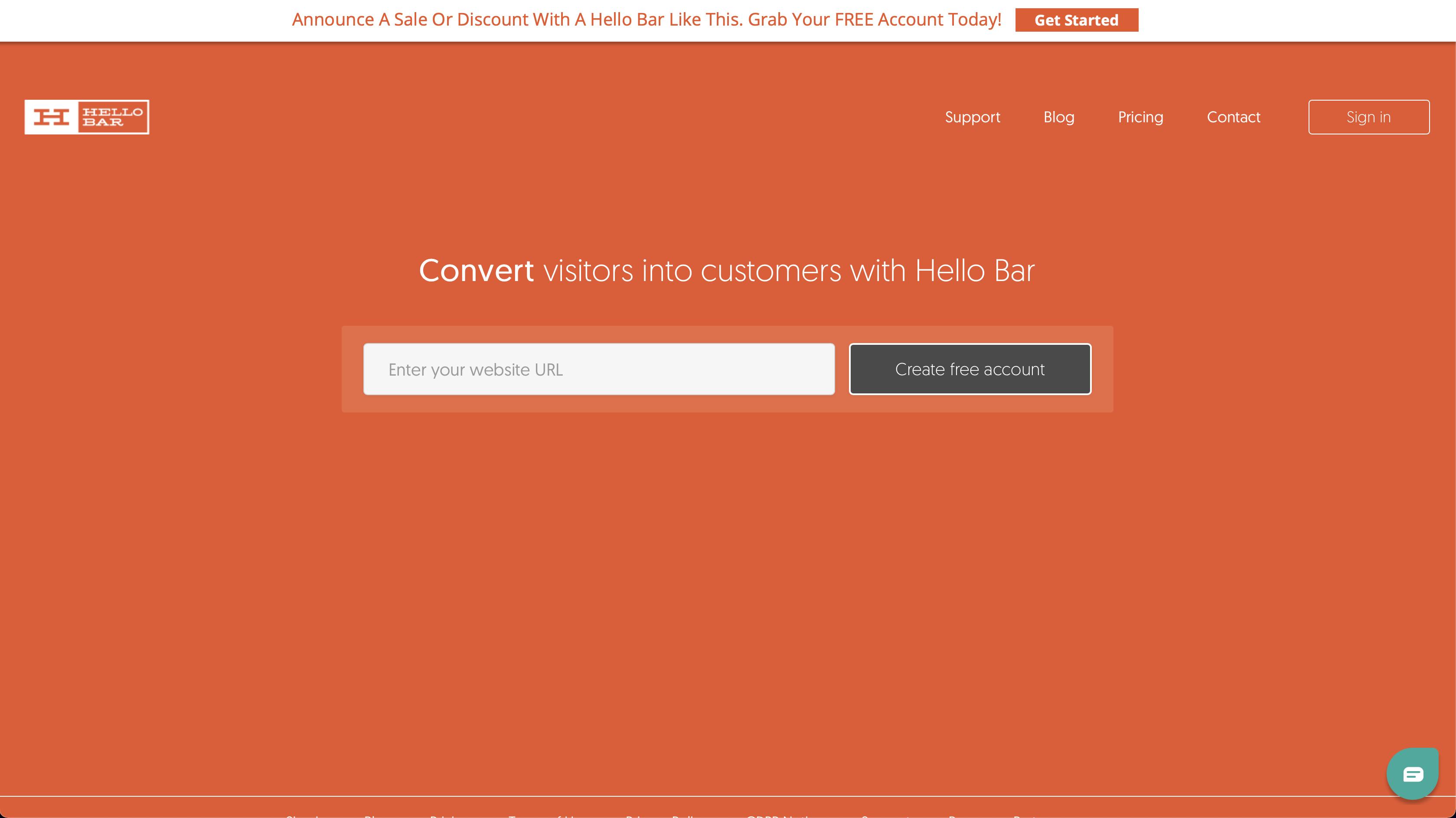 Hello Bar Website